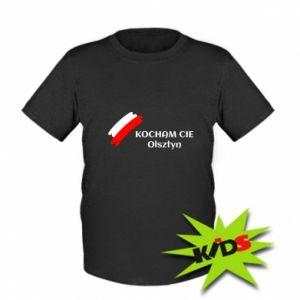 Dziecięcy T-shirt Kocham cię Olsztyn