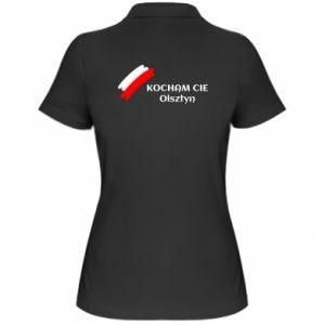 Damska koszulka polo Kocham cię Olsztyn