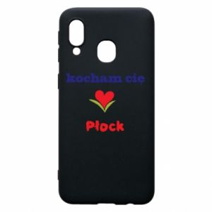 Phone case for Samsung A40 I love you Plock