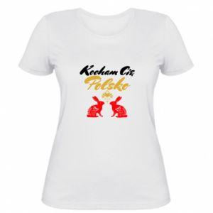 Women's t-shirt I Love You Poland