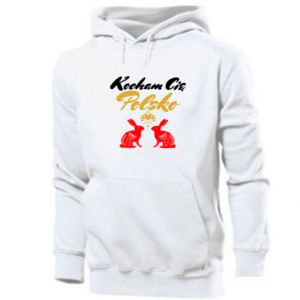 Men's hoodie I Love You Poland