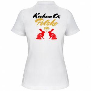 Koszulka polo damska Kocham Cię Polsko
