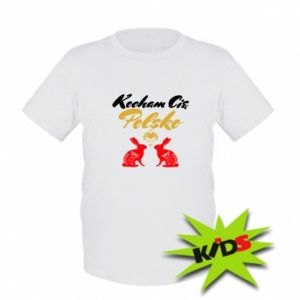 Kids T-shirt I Love You Poland