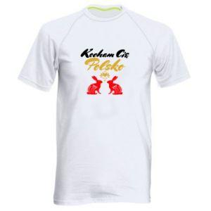 Koszulka sportowa męska Kocham Cię Polsko