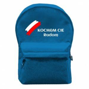 Plecak z przednią kieszenią Kocham cię Radom