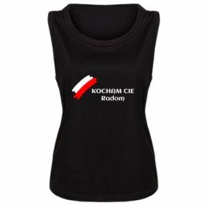 Damska koszulka bez rękawów Kocham cię Radom