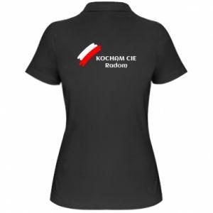 Damska koszulka polo Kocham cię Radom