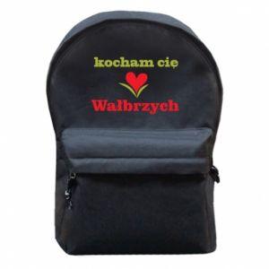Plecak z przednią kieszenią Kocham cię Wałbrzych