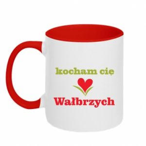Two-toned mug I love you Walbrzych