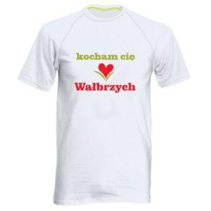 Męska koszulka sportowa Kocham cię Wałbrzych