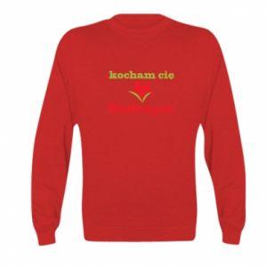 Kid's sweatshirt I love you Walbrzych