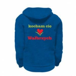 Kid's zipped hoodie % print% I love you Walbrzych