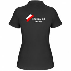Damska koszulka polo Kocham cię Zabrze