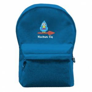 Plecak z przednią kieszenią Kocham cię. Dla niego