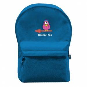 Plecak z przednią kieszenią Kocham cię. Dla niej