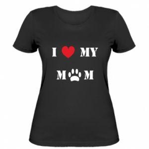 Damska koszulka Kocham mamusię - PrintSalon