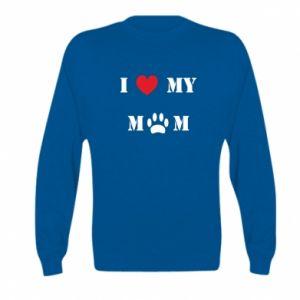 Kid's sweatshirt Kocham mamusię