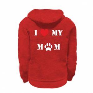 Kid's zipped hoodie % print% Kocham mamusię