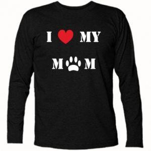 Koszulka z długim rękawem Kocham mamusię - PrintSalon