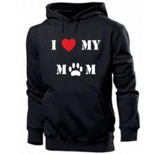 Męska bluza z kapturem Kocham mamusię - PrintSalon