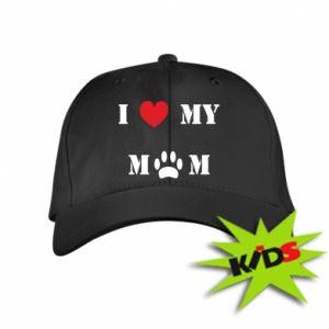 Dziecięca czapeczka z daszkiem Kocham mamusię - PrintSalon