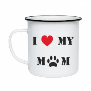 Kubek emaliowane Kocham mamusię - PrintSalon