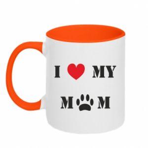 Kubek dwukolorowy Kocham mamusię - PrintSalon