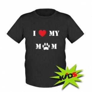 Dziecięcy T-shirt Kocham mamusię
