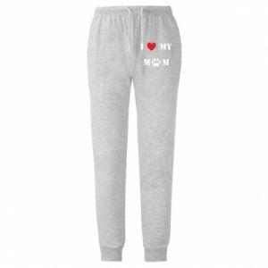 Męskie spodnie lekkie Kocham mamusię - PrintSalon
