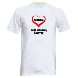 Men's sports t-shirt I love my younger sister