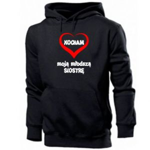 Men's hoodie I love my younger sister