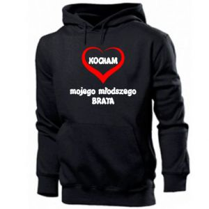 Men's hoodie I love my younger brother