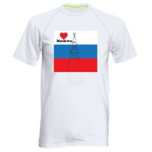 Men's sports t-shirt I Love Moscow