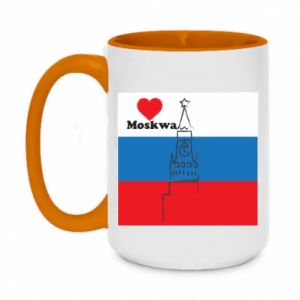 Two-toned mug 450ml I Love Moscow