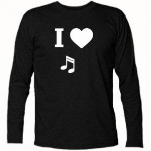 Koszulka z długim rękawem I love music