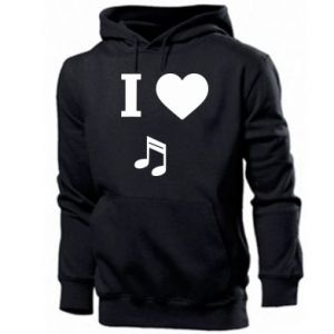 Men's hoodie I love music