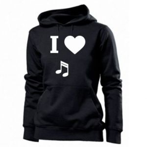 Women's hoodies I love music