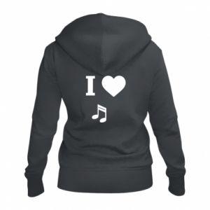 Damska bluza na zamek I love music