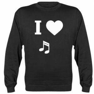 Sweatshirt I love music