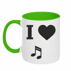 Kubek dwukolorowy I love music