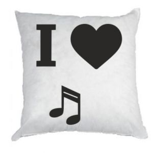 Pillow I love music