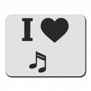 Mouse pad I love music