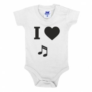 Baby bodysuit I love music