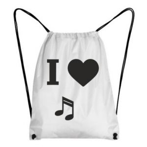 Backpack-bag I love music