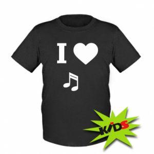 Kids T-shirt I love music