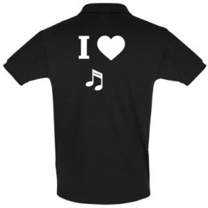 Men's Polo shirt I love music