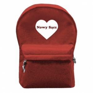Plecak z przednią kieszenią Kocham Nowy Sącz - PrintSalon