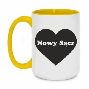 Two-toned mug 450ml I love Nowy Sacz