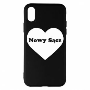 Phone case for iPhone X/Xs I love Nowy Sacz