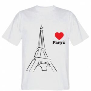 Koszulka męska Paryżu, kocham cię